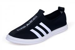 Summer new men's low canvas shoes men's casual shoes breathable shoes black 38