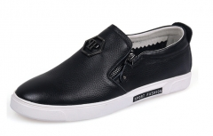 Men 's casual shoes leather shoes men' s first layer of leather shoes men 's fashion shoes black 38