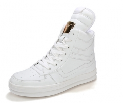 Men 's popular high - Bang men' s casual shoes casual fashion shoes to help high - board shoes white 39