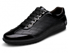The new second floor large leather casual shoes British business fashion wild men's leather black 38