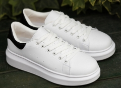 New couple shoes men 's shoes casual sports shoes low to help shoes white 38