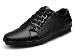 The new low to help tie men 's leather casual shoes British trend of casual shoes black 38