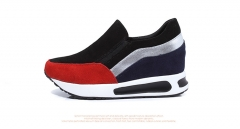 New low-end leather shoes to help increase the set of single-foot shoes, casual shoes red 35