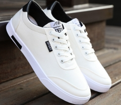 The new students board shoes boys canvas white shoes trend of breathable casual men 's shoes white 39