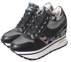 Leisure air - cushioned high - rise sports shoes women 's shoes shake shoes casual shoes black 35