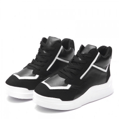Slope with the increase in high-end shoes with casual shoes, sports shoes casual shoes black 35