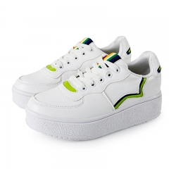 White shoes with a flat-bottomed shallow shallow mouth white wild shoes Sports shoes white 35
