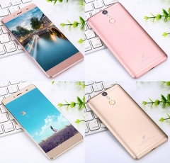 Genuine 5.5 inch full CNC 4G Android intelligent eight core fingerprint unlock one mobile phone Rose Gold