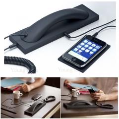 NFXSL-Fashion Phone Handset Anti-radiation Retro Smartphone Earphone For 3.5mm Cell Phones White