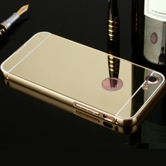 For Iphone /Samsung Soft Silicone Ultra Slim Plating Mirro Case Shiny Phone Case gold Iphone 5/5s