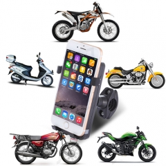 Universal Anti-Thief Chargable Phone Holder For Mortocycle black portable