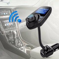 Car MP3 Audio Player  HandsFree LCD Display With USB Charger, Memory Card Reader As Gift black universal