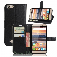 New For Cubot Note S - Luxury Flip Leather Stand Case PU Leather Cover black 5.5inch