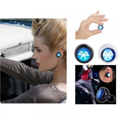 Ear Hook Headset Mini Bluetooth 4.1 Earphone,LED Watch As Gift black