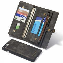 For Samsung / Iphone-High Quality Origional Leather Wallet Phone Cover black samsung s7edge