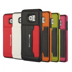 Leather Phone Case black For Samsung A7