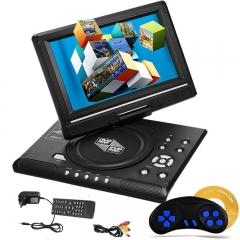 9.8 inch DVD Player 3D Movies FM Supports SD / USB / AV for Gamepad TV DVD / CD / MP3 black portable