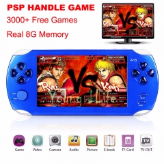 Handheld Game Console-4.3 inch Screen Mp4 Player MP5 Game Player-Real 8GB Card Support black universal