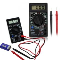 DT-830B LCD Digital Multimeter-AC/DC 750/1000V Voltmeter Ammeter Ohm Tester Meter Digital Multimeter black universal