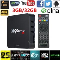 DDR3 32GB ROM Android TV Box -Amlogic S905 Quad Core KODI16.0 Fully Loaded 4K XBMC black portable