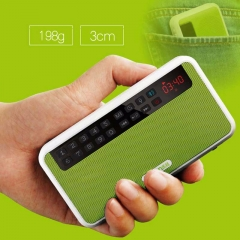 Support Flashlight-Portable Mini Bluetooth Speaker With FM Radio Support TF Card Play And Recorder green mini