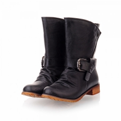 2016 High Quality Mujer Chaussure Women Genuine Leather Boots Black 35