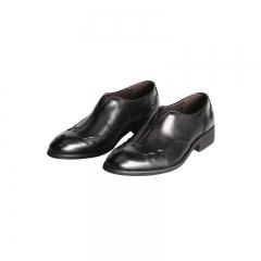 Men Shoes Fashion Leather Shoes Brogue Men'S Flats Slip On Men Shoes Genuine Leather High Quality black 38