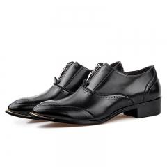 Spring Autumn Men Brogue Shoes Genuine Leather Shoes Fashion Wedding Shoes Men black 38