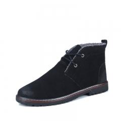 Waterproof Men's Spring Suede Chukka Boots Mens Martin Boots black 39