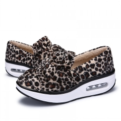 Women Leopard Print Shoes Moccasins Mary Jane Shoes Flats brown 35