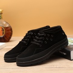 Luxury suede sneakers Expensive and durable black 38