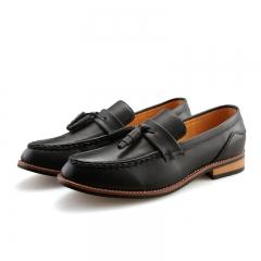 2017 Designer Luxury Brand Casual Wedding Party Dress Leather Flats Shoe Oxfords Tassel black 39