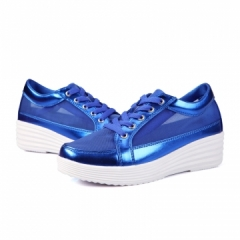 Women Platforms Shoes Height Increasing Party Comfortable Casual Shoes Female Sports Shoes Running blue 35