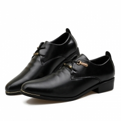 Fashion Classic Vintage  Leather Mens Dress Shoes Italian business men flats office black 39