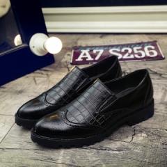 new summer men dress shoes wedding business shoes vintage Designer Formal footwear black 39