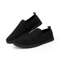 Mens Loafers Shoes Autumn Spring Men's Flats Men Slip On Moccasins Driving Shoes black 39