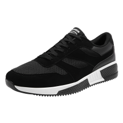 Summer Sports Racer Men Running Shoes Breathable Men's Athletic Sneakers Jogging Outdoor Shoes black 39