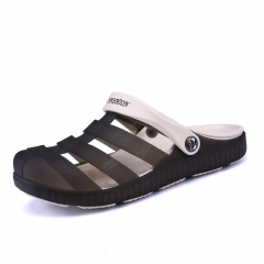 Casual Summer Man Sandals Outdoor Jelly Garden Breathable Cool Slide Slipper Water Shoes brown 40
