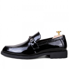 Autumn Gentleman Style Men Loafers Tassels Men's Flats Dress Shoes Leather Slip Ons black 39