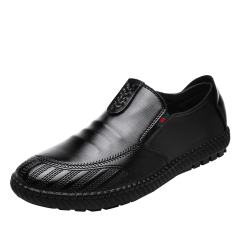 Classic Men'S Business Suits Shoes Business Dress Men Shoes Slip On Shoes Man Flats black 39