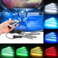 4* 9LED   Interior Auto Under Dash Foot Seat Inside Light NO