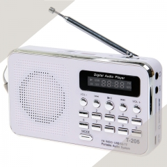 MOONSO Mini Portable LCD Digital FM Radio Speaker USB Micro SD (TF) Card Mp3 Music Player KK0077