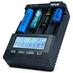 Opus BT-C3100 V2.2 Smart Universal LCD LI-ion NiCd NiMh AA AAA Battery Charger KK0072 black