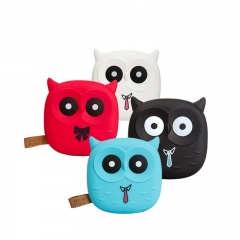 Cute Cartoon Owl Power Portable Charger Battery Mobile Phone Small Battery Portable KK0043 white