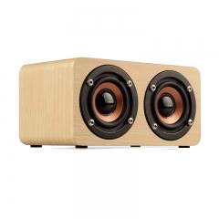 Wooden HIFI Bluetooth Speaker 10W Dual Loudspeakers Surround Mini Portable Speaker Wireless kk0027
