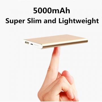 5,000mAh Super Slim Power Bank for smart mobile phone usb battery charger kk0110F gold 5000mAh
