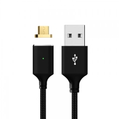 Magnetic Cable,Nylon Braided Micro USB Magnectic Cable Data Charge Cable Magnet black