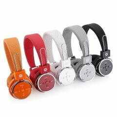 Bluetooth headset 4.1 sports headset support TF card and stereo radio vibration bass effect Black