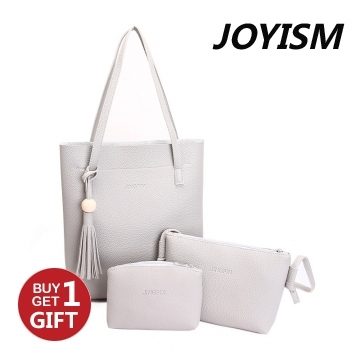 Joyism 3 Colors Classic Fashion Women  Shoulder Handbag. Vintga Crossbody Bags Black/Grey/Pink gray f