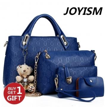 Joyism 6 colors Classic Fashion Women Luxury Handbag PU Leather Genuine Bags blue f